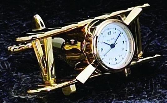 Airplane Clock, brass