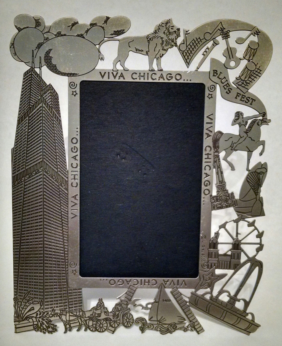 Etched Nickel Picture Frame