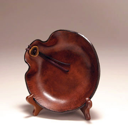Hand Formed Leather Bowl, small