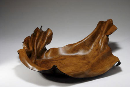 Hand Formed Leather Bowl
