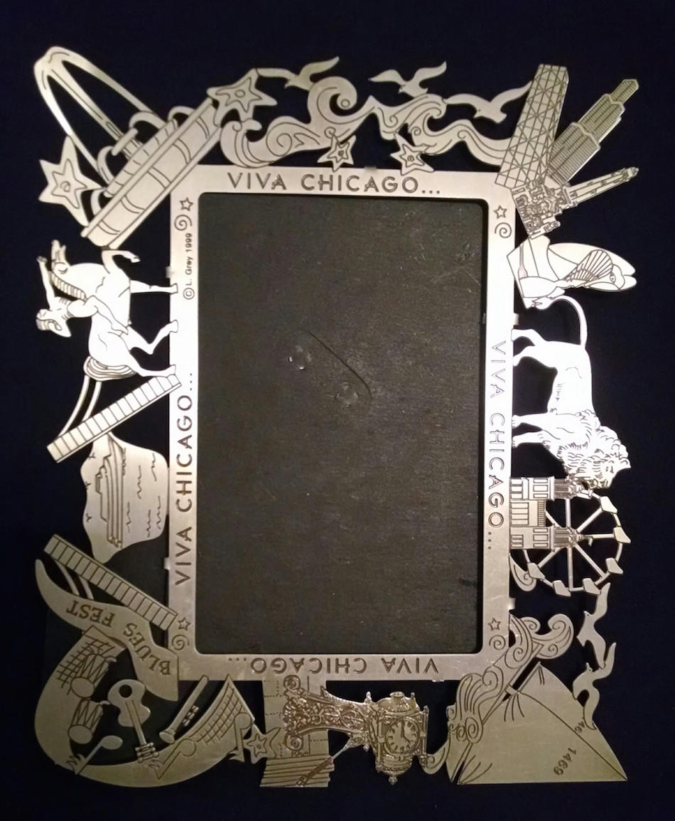 Nickel Etched Picture frame